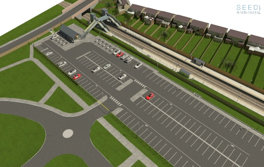Maghull North - Aerial View